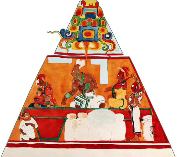 A concise history of chocolate the c spot for Bonampak mural painting